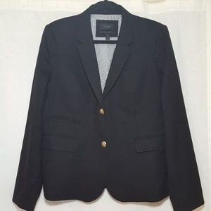 J.CREW Schoolboy Blazer Black Size 14 Gold Buttons